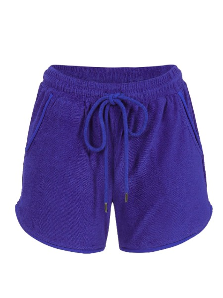 Frottée Shorts in royalblau RINGELLA