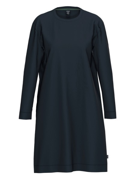 kuschlig warmes Damen Nachthemd dunkelblau AMMANN