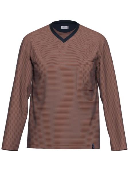 Herren Langarm Shirt Arm Bio Baumwolle Mix & Match oxblood red AMMANN-Copy