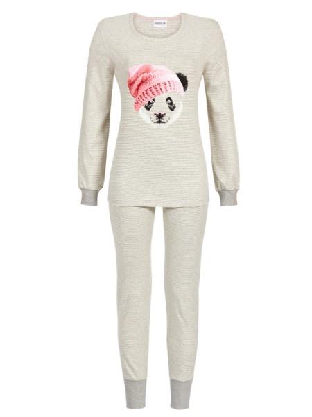 """Schlafanzug """"Panda"""" grau mit Bündchen"""