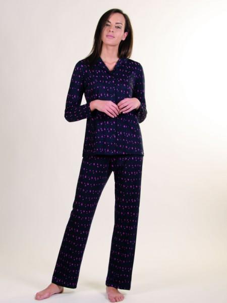 Damen Pyjama Jersey marine AMMANN