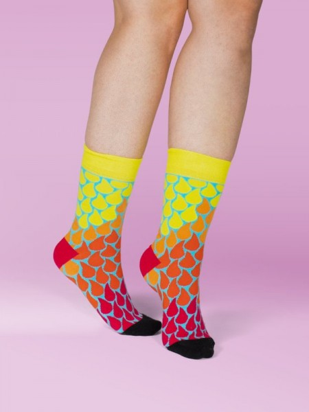 unabux Socken DROPS OF FIRE
