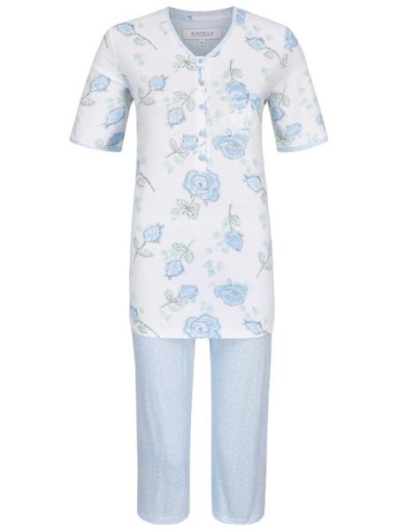 Schlafanzug mit Caprihose hellblau - RINGELLA