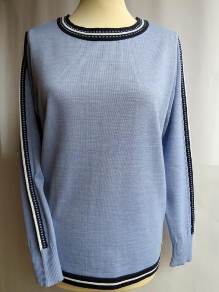 Damen Pullover Schurwollmischung hellblau - SIEGEL