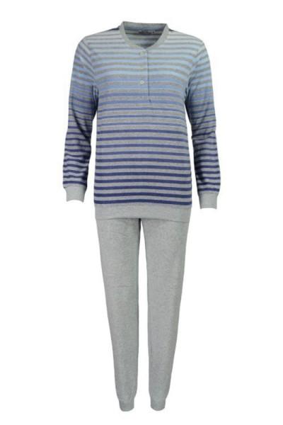 Klima-Frottée Schlafanzug mit Bündchen für Damen - hajo