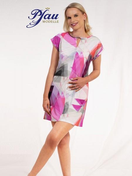 Hauskleid 100% Bausmwolle pink silber PFAU MODELLE
