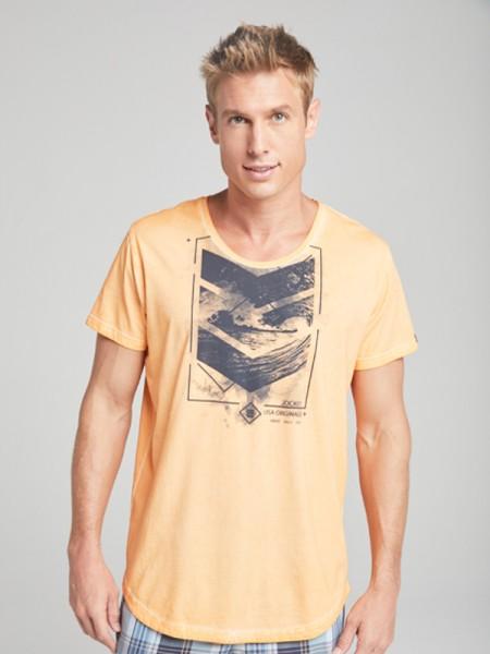 T-Shirt orange washed Style JOCKEY