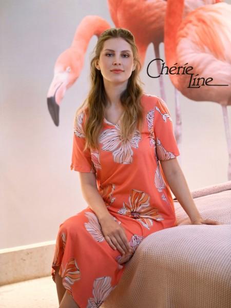 Langes Nachthemd peach RINGELLA