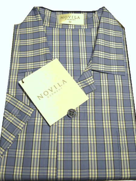 Herren Pyjama Marco 1/2 Arm Karo NOVILA