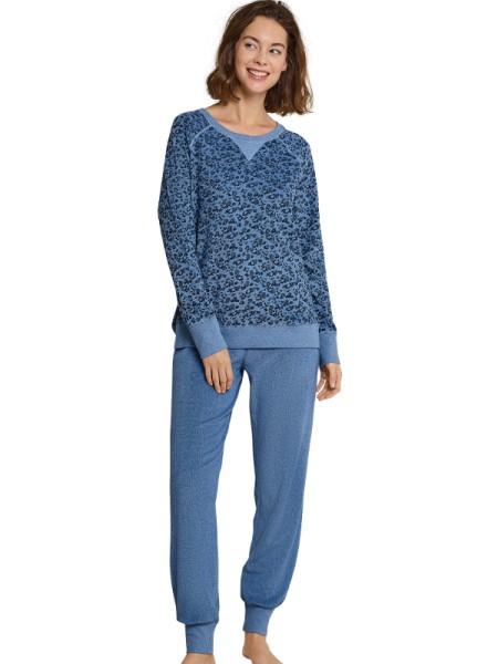 timeless design 22f72 bab2e Frottée Damen Schlafanzug blau Seidensticker