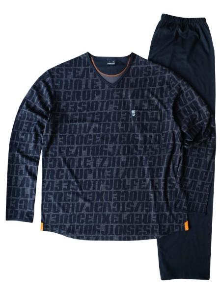 Herren Schlafanzug 100% Baumwolle Letters AMMANN