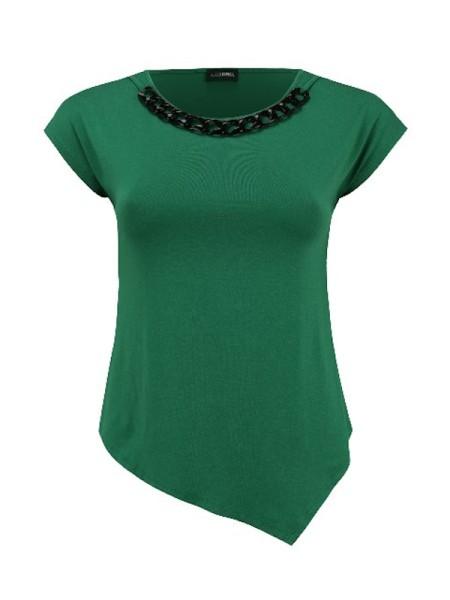 Shirt mit Kette grün DORIS STREICH
