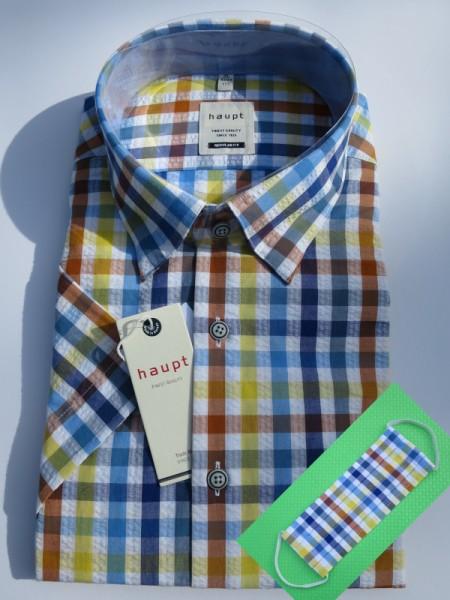sommerliches Hemd 1/2Arm blaugelb Karo - haupt
