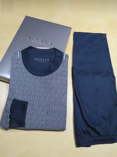 Herren Schlafanzug mit Bündchen Udo paisley NOVILA