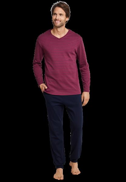 Herrenschlafanzug burgund Seidensticker