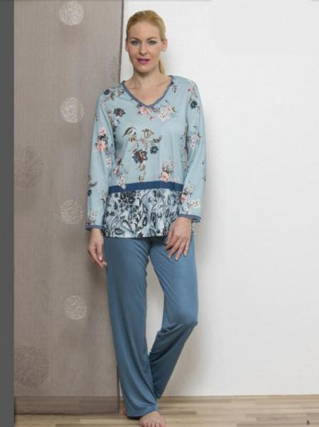 Schlafanzug azurblau HUTSCHREUTHER