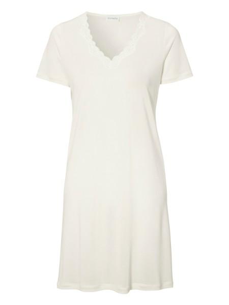 Reine Seide Nachthemd Ivory damella