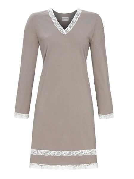Damen Nachthemd grey Spitze RINGELLA