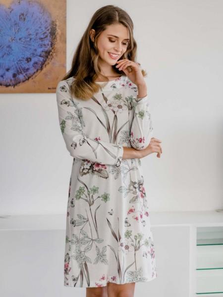 Florales Nachthemd Baumwolle Modal HUTSCHREUTHER