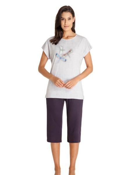 Damen Schlafanzug Libellen hajo