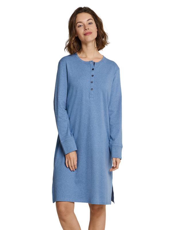 brand new 5dd62 28697 warmes Nachthemd für Damen blau Seidensticker