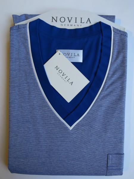 Herren Nachthemd Tobias royalblau NOVILA