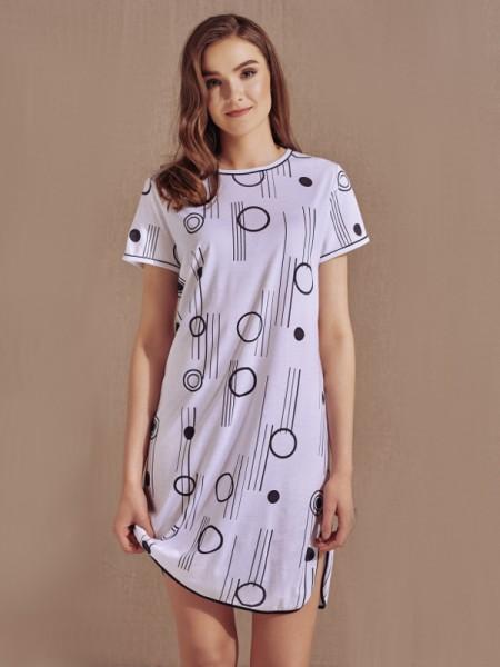 Sleepshirt weißschwarz Cybèle