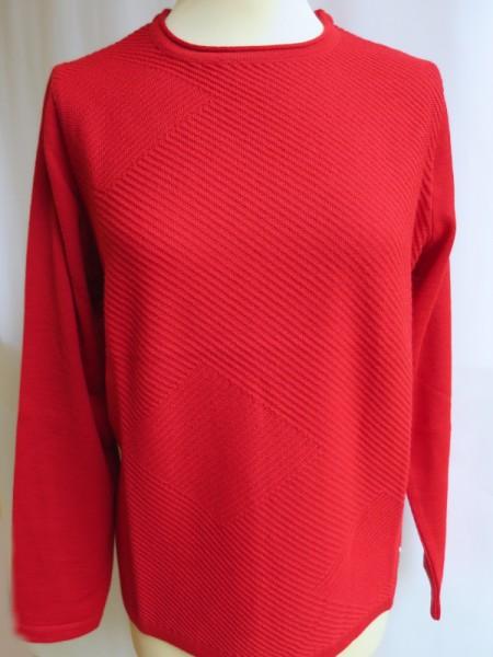 Damen Pullover Schurwollmischung rot - SIEGEL