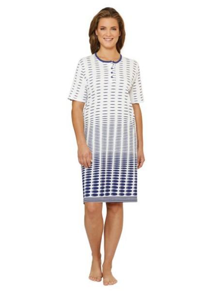 Damen Nachthemd mit Knopfleiste Premium Cotton hajo