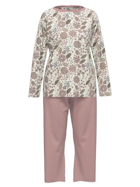 Damen Schlafanzug 7/8 Hose rose Blumen AMMANN
