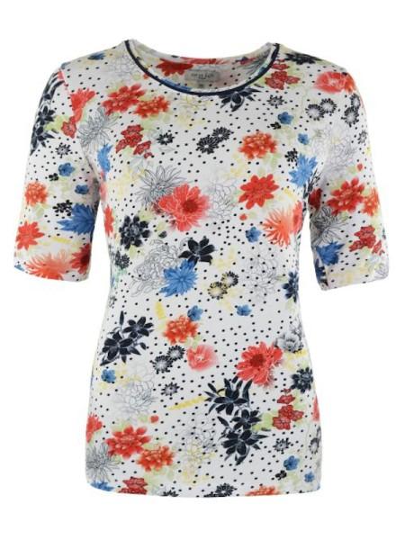 sommerliches Shirt in Viscose mit Blumen HAJO