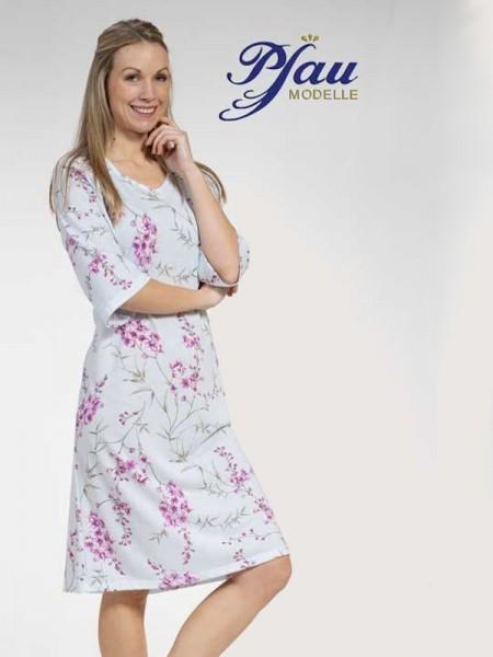 Damen Nachthemd 3/4 Arm hellblau PFAU MODELLE