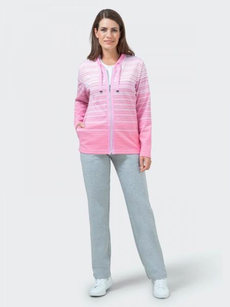 Damen Hausanzug Klima Komfort Kurzgrößen - hibiskus grau