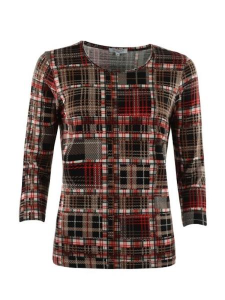 Shirt 3/4 Arm in trendigem Karo Design HAJO