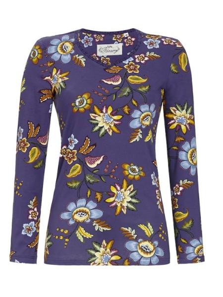Bloomy Shirt fjordblau Blumen RINGELLA