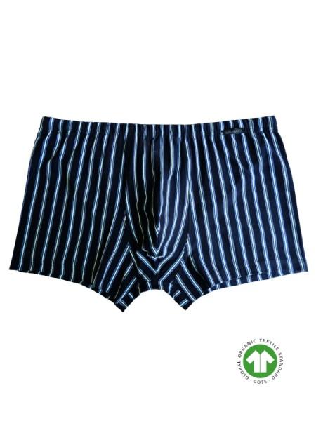 Retro-Short GOTS schwarz Streifen AMMANN BIO Baumwolle