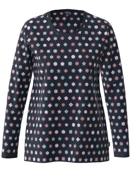Damen Langarmshirt Bio Baumwolle Sternblüten AMMANN