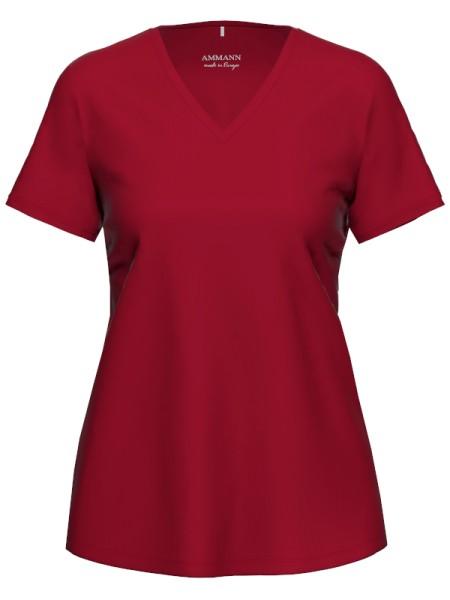 Damen T-Shirt Bio Baumwolle Rio Red AMMANN
