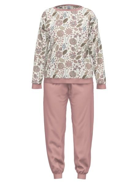 Damen Schlafanzug rose Blumen AMMANN