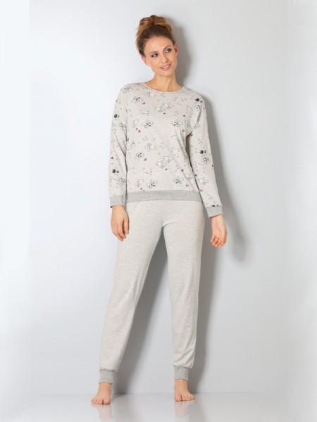 """Damen Schlafanzug """"Schäfchen"""" 100% Baumwolle hajo"""