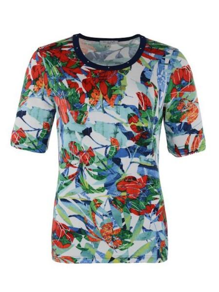 buntes Shirt in Viscose mit Blumen HAJO