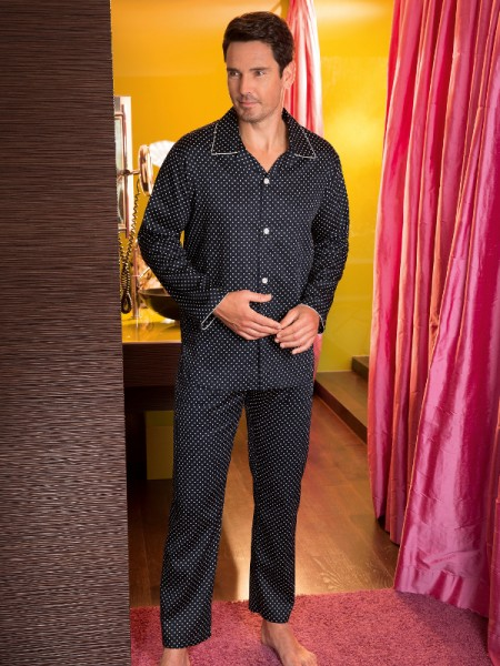 Herren Herren Pyjama Ben marine NOVILA