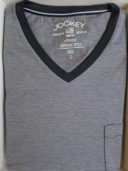 Herrennachthemd marine Ringel JOCKEY