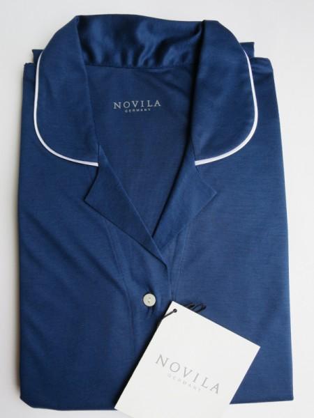 Nachthemd Lany Modal Seide fjordblau NOVILA