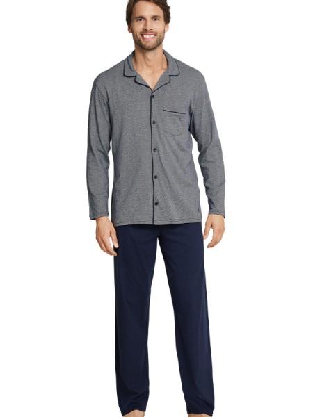 Pyjama Jersey Knöpfe Seidensticker