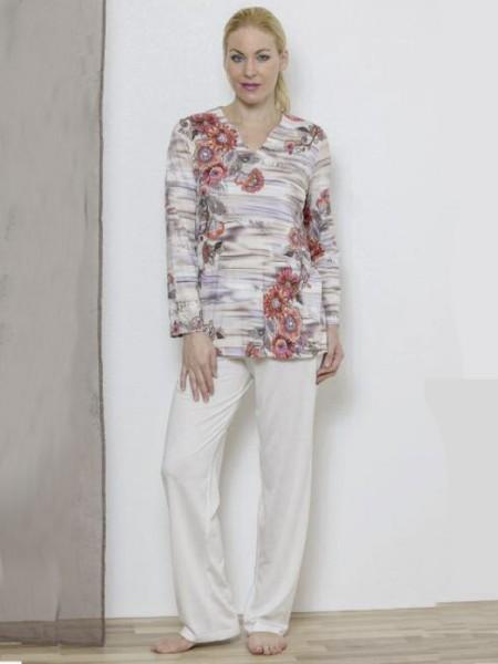Feiner Schlafanzug Blumen HUTSCHREUTHER