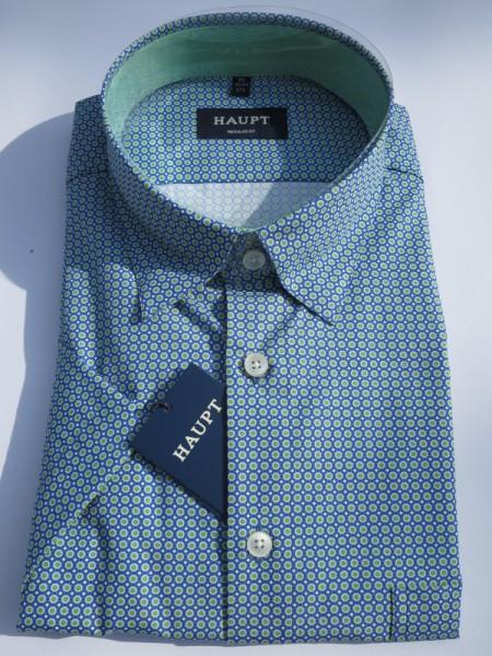Hemd in 100% Baumwolle blaugrün - haupt
